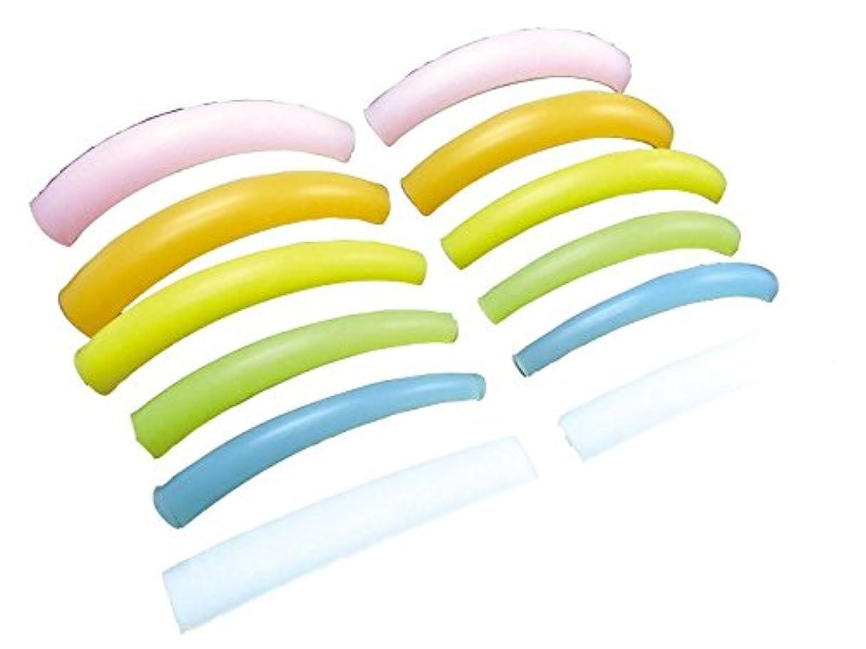 エレメンタル勧告証明する業務用 アイメイク シリコンロット まつげ サイズフルセット 6人分12枚入り 3L、LL、L、M、S、フラット
