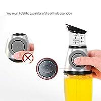 月蓮 食品グレードガラスオイルポット、キッチン用品、厳格なオイル管理 ( Color : Silver )