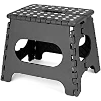 Acko 踏み台  28cm  脚立 折り畳みスツール 黒い 耐荷重113kg 子供用大人用