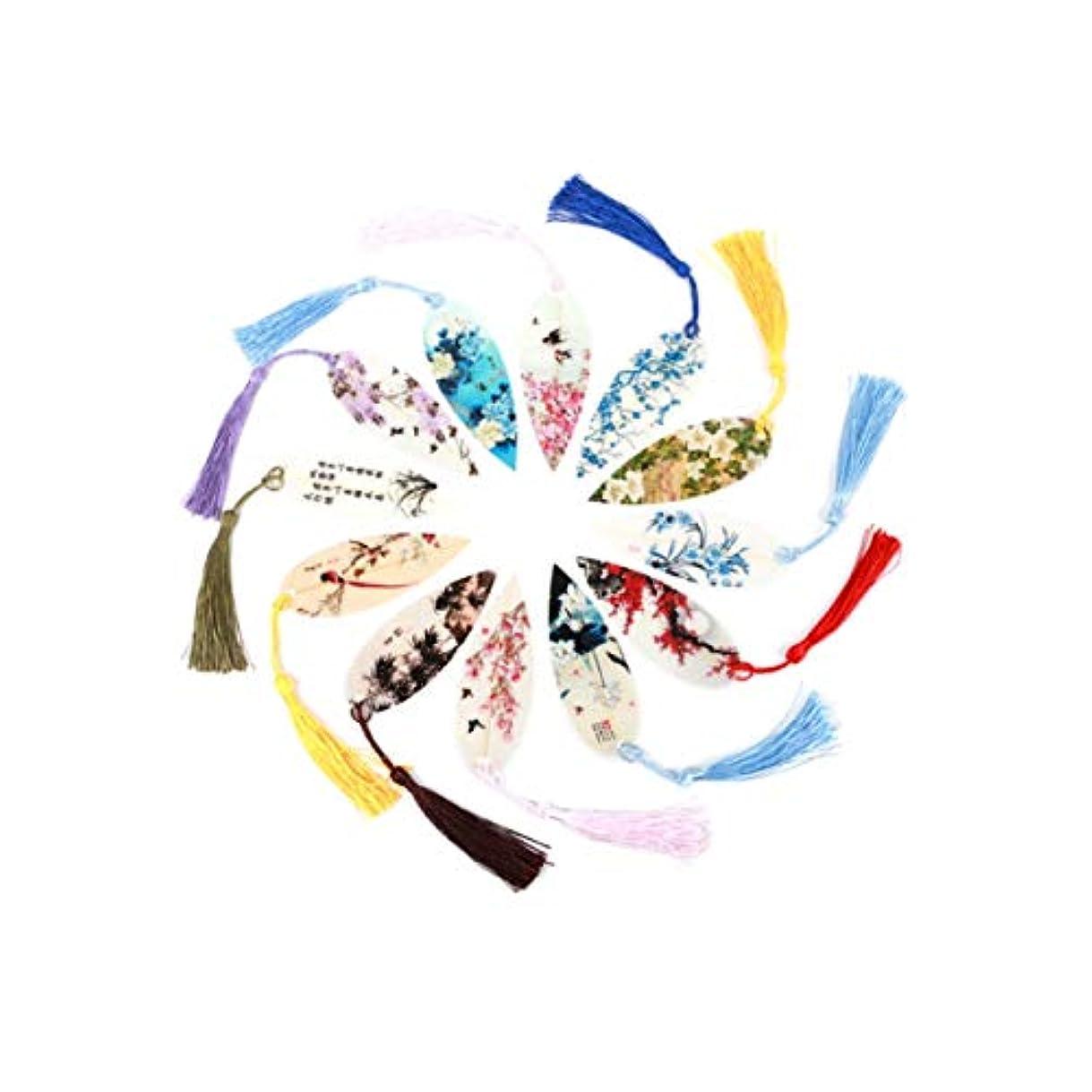 告発適合しました集まるXLQC 葉脈ブックマーク中国風のクリエイティブな葉文房具の古典的なタッセル (Style : Dark incense)