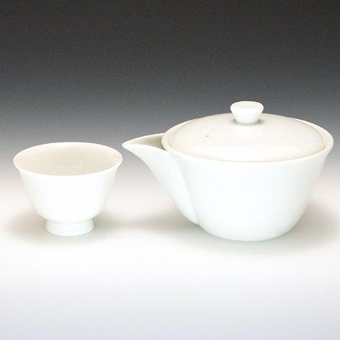 玉露用 宝瓶 ・ 湯冷まし ・ 茶碗セット 白磁 茶器