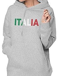 イタリア 国旗 ITALIA トレーナー パーカー スウェット パーカー 長袖 スウェット 秋冬 トップス レディース カジュアル フード付き ポケット付き おしゃれ SーXXL