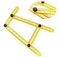 HJ 自由スコヤ 定規 折り畳み マルチ定規 目盛り 測定定規 不規則定規 大工道具 テンプレートツール (2本セット)