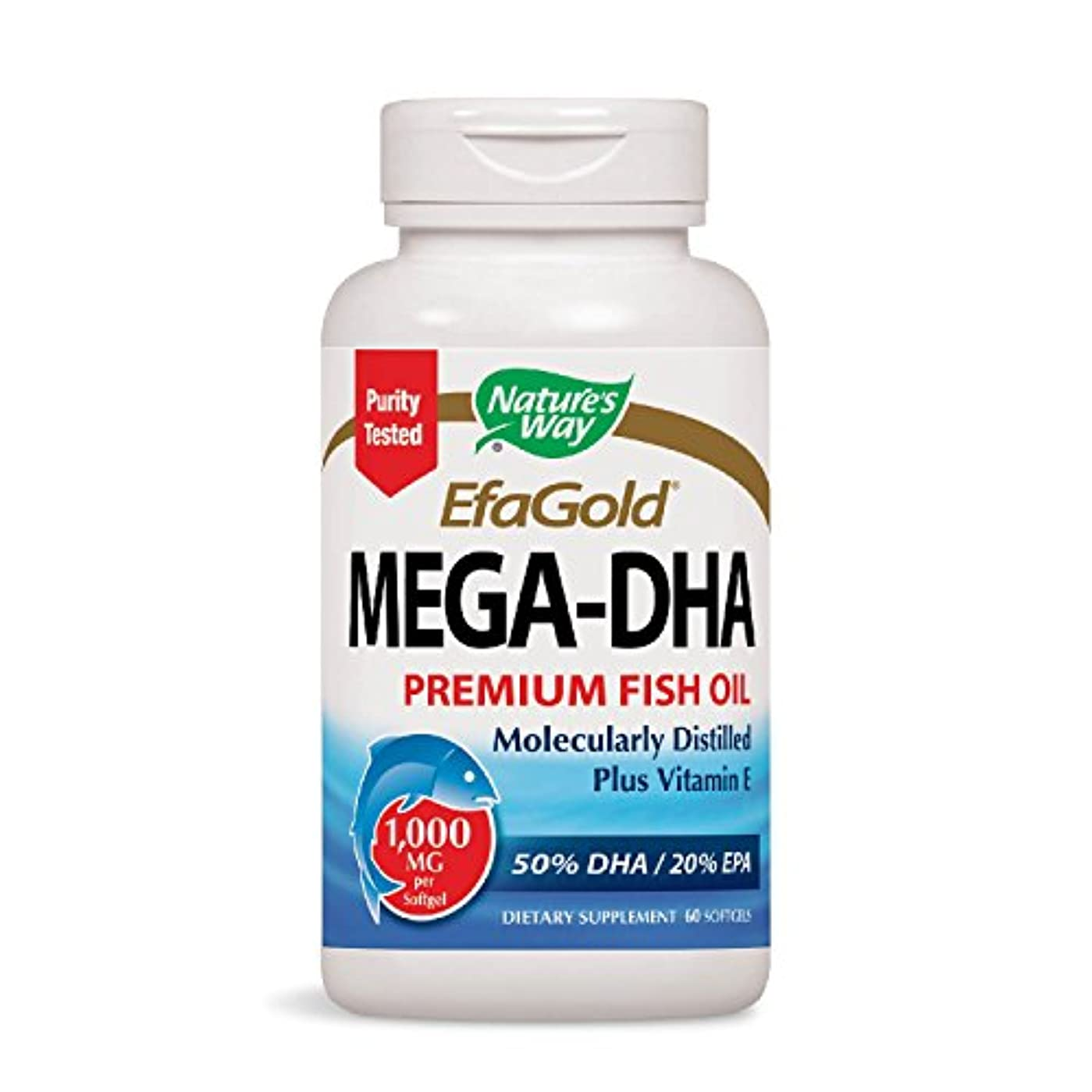 海外直送品 Nature's Way Mega Dha, 60 Softgels
