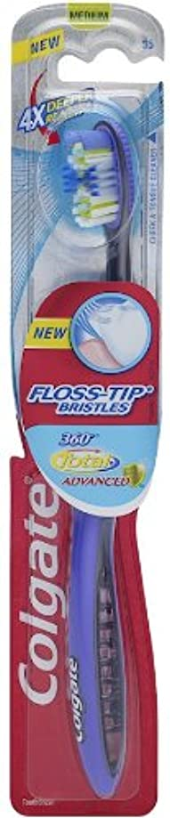 Colgate 360合計先進FLOSS-ヒント毛歯ブラシ、完全な頭部ミディアム