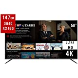 """EliteLux 58"""" UHD DLED (US58UHD1000) Smart Android 7.0 TV with 3 x HDMI, 1GB+8GB of Large-Capacity Operation, AV, Wireless, Network Ready and USB"""