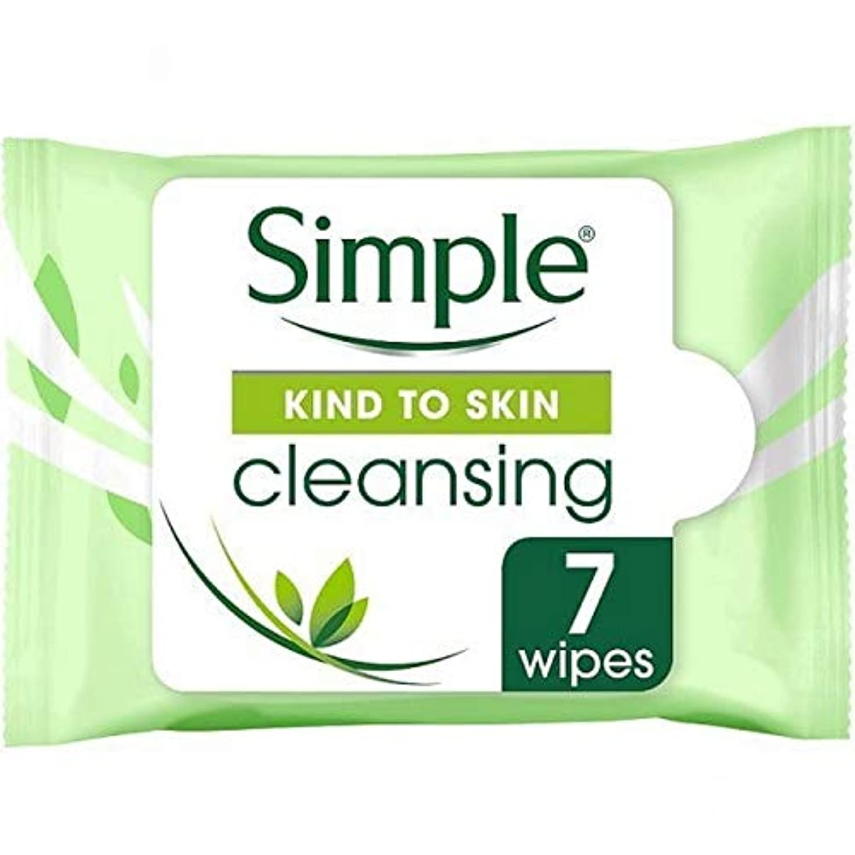エンドテーブル縮れた残酷な[Simple ] 顔のワイプの7Sクレンジング肌への単純な種類 - Simple Kind To Skin Cleansing Facial Wipes 7s [並行輸入品]