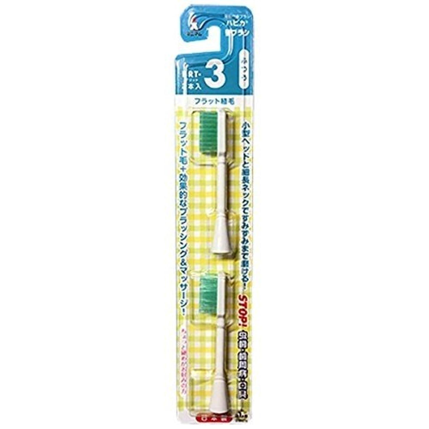 振りかけるダブルグレートオークミニマム 電動付歯ブラシ ハピカ 専用替ブラシ フラット植毛 毛の硬さ:ふつう BRT-3T 2個入