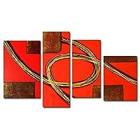 【モダン油絵工房】 油絵 現代絵画 手書きモダン油絵 抽象画ライン 2FAE-1009 30×80cm 30×60cm 40×50cm