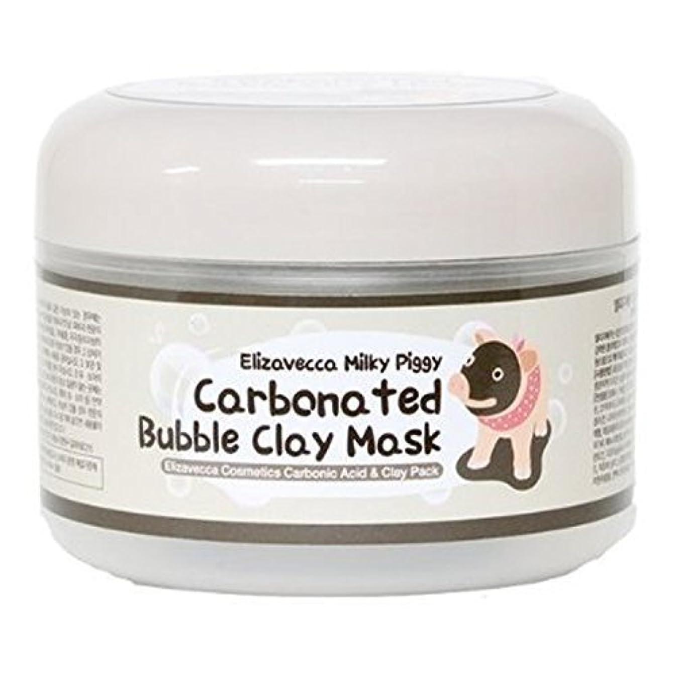 事前写真を描く排他的Elizavecca エリザヴェッカ 炭酸バブル?毛穴クレンジング?クレイ?パック 100g (carbonate bubble Clay Mask) 海外直送品