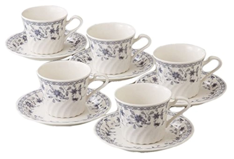 エールネット キッチン用品?食器/食器?グラス?カトラリー/マグカップ?ティーカップ/カップ_ソーサー 白 8.5cm トリノ 5客 コーヒーセット