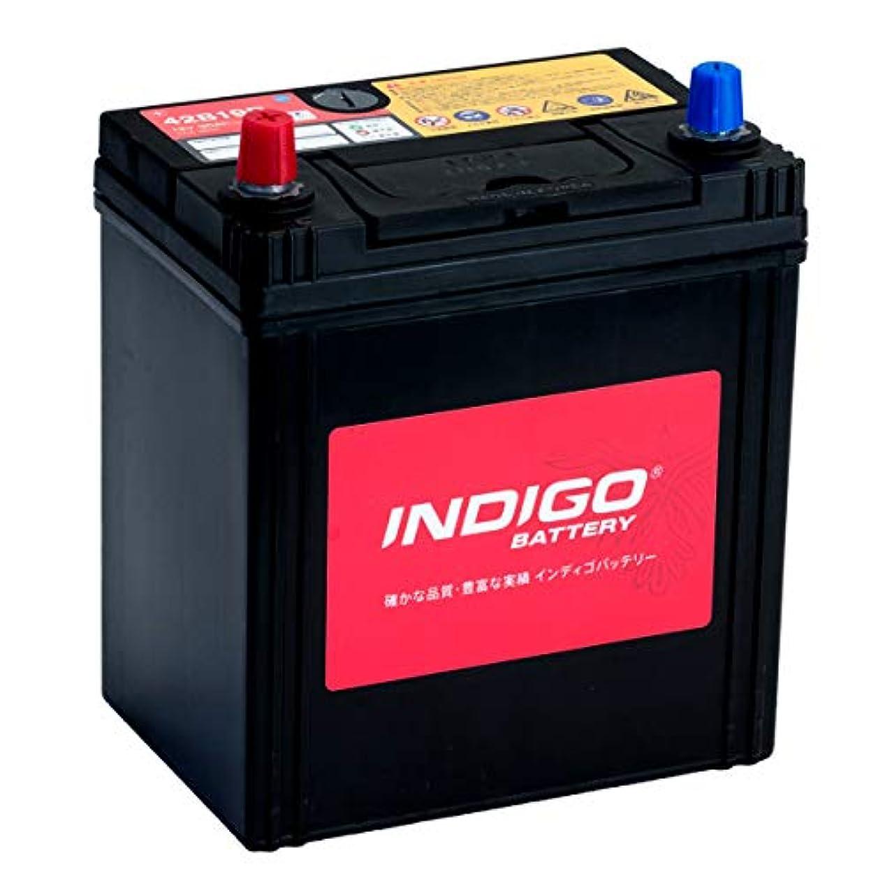 風変わりな酔っ払い使い込むインディゴ バッテリー 42B19R モコ DBA-MG33S H23/2~H25/7 アイドリングストップ車除く