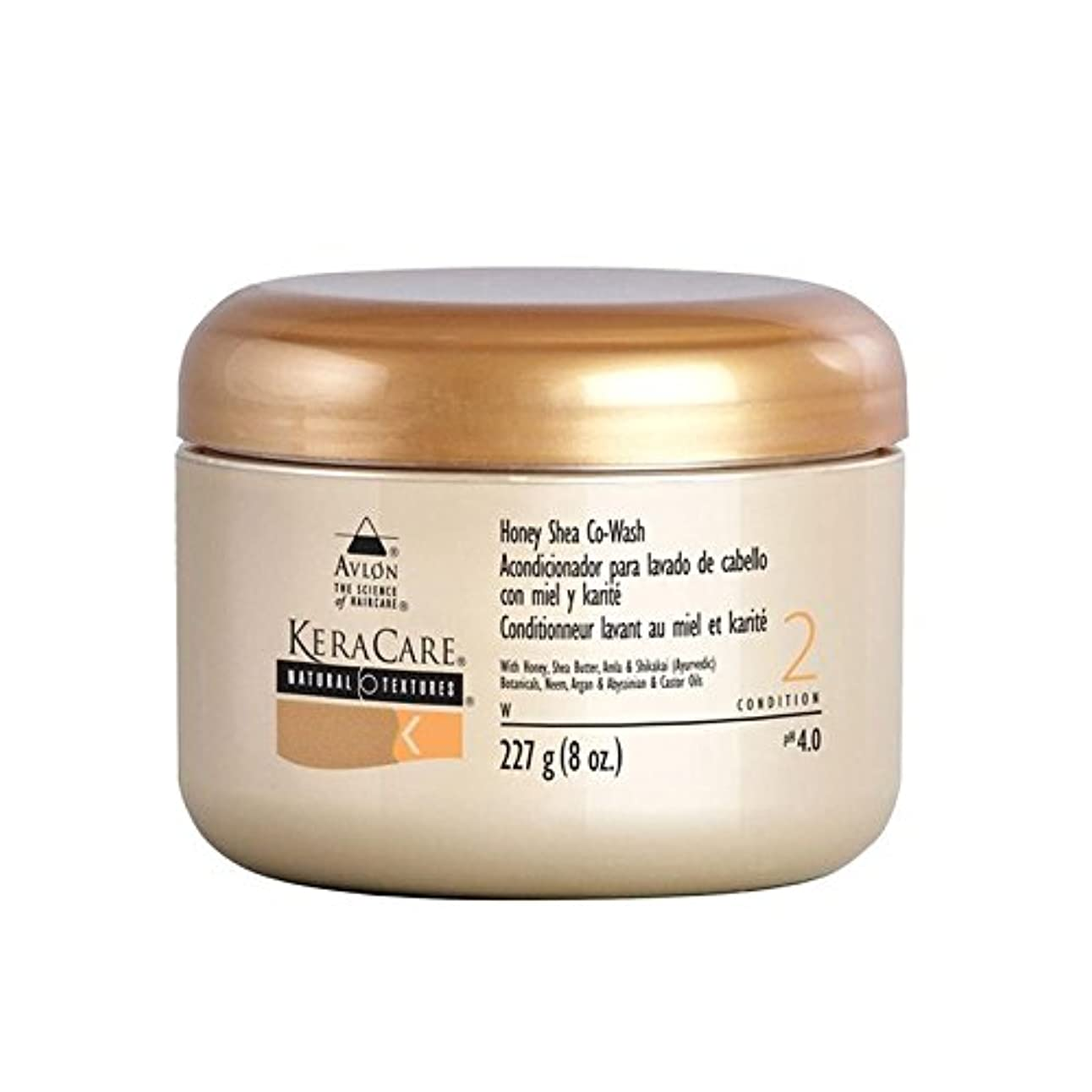 矩形倉庫増幅蜂蜜シアコウォッシュ x2 - Keracare Honey Shea Co-Wash (Pack of 2) [並行輸入品]