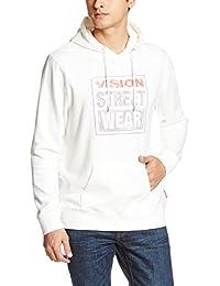 (ヴィジョンストリートウェア) vision street wear(ヴィジョン ストリート ウェア) VISIONかすれマグロゴプリントパーカー