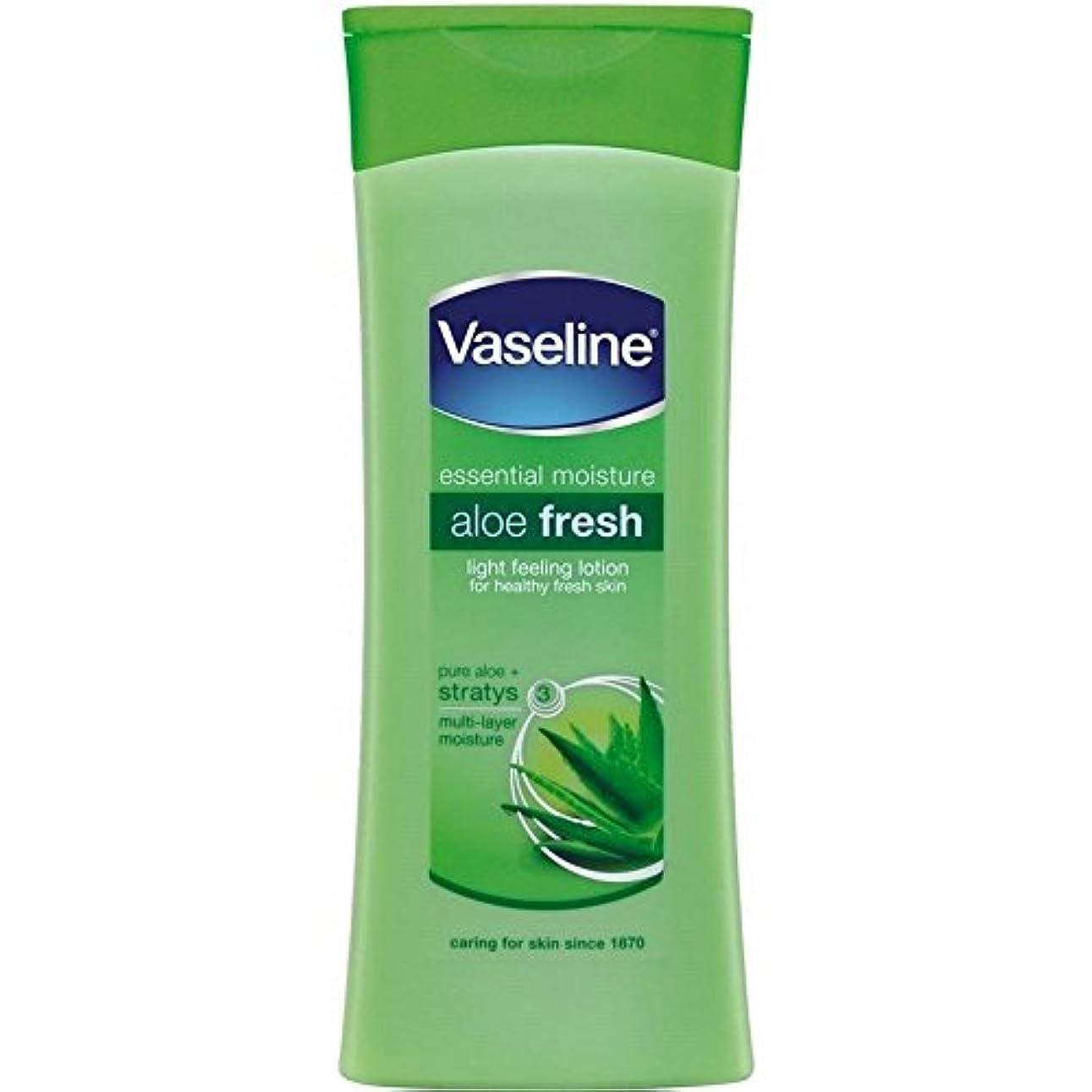 ハーフ溶接大量Vaseline Intensive Care Aloe Fresh Body Lotion (400ml) ワセリン集中治療アロエフレッシュボディローション( 400ミリリットル)