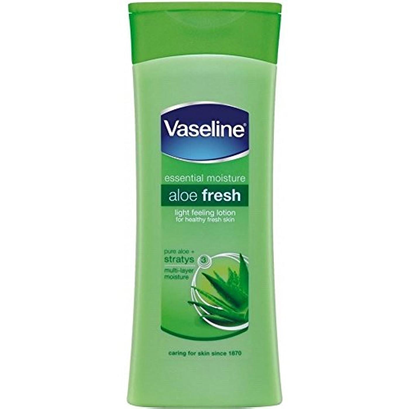 メンタリティ禁じる新しさVaseline Intensive Care Aloe Fresh Body Lotion (400ml) ワセリン集中治療アロエフレッシュボディローション( 400ミリリットル)