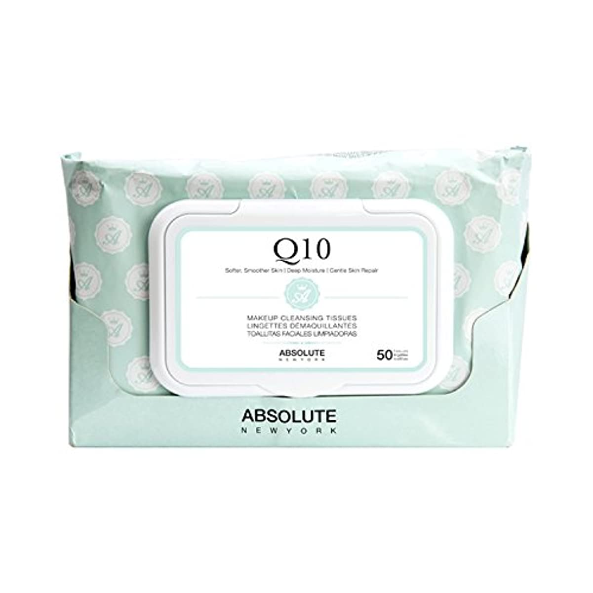 (6 Pack) ABSOLUTE Makeup Cleansing Tissue 50CT - Q10 (並行輸入品)