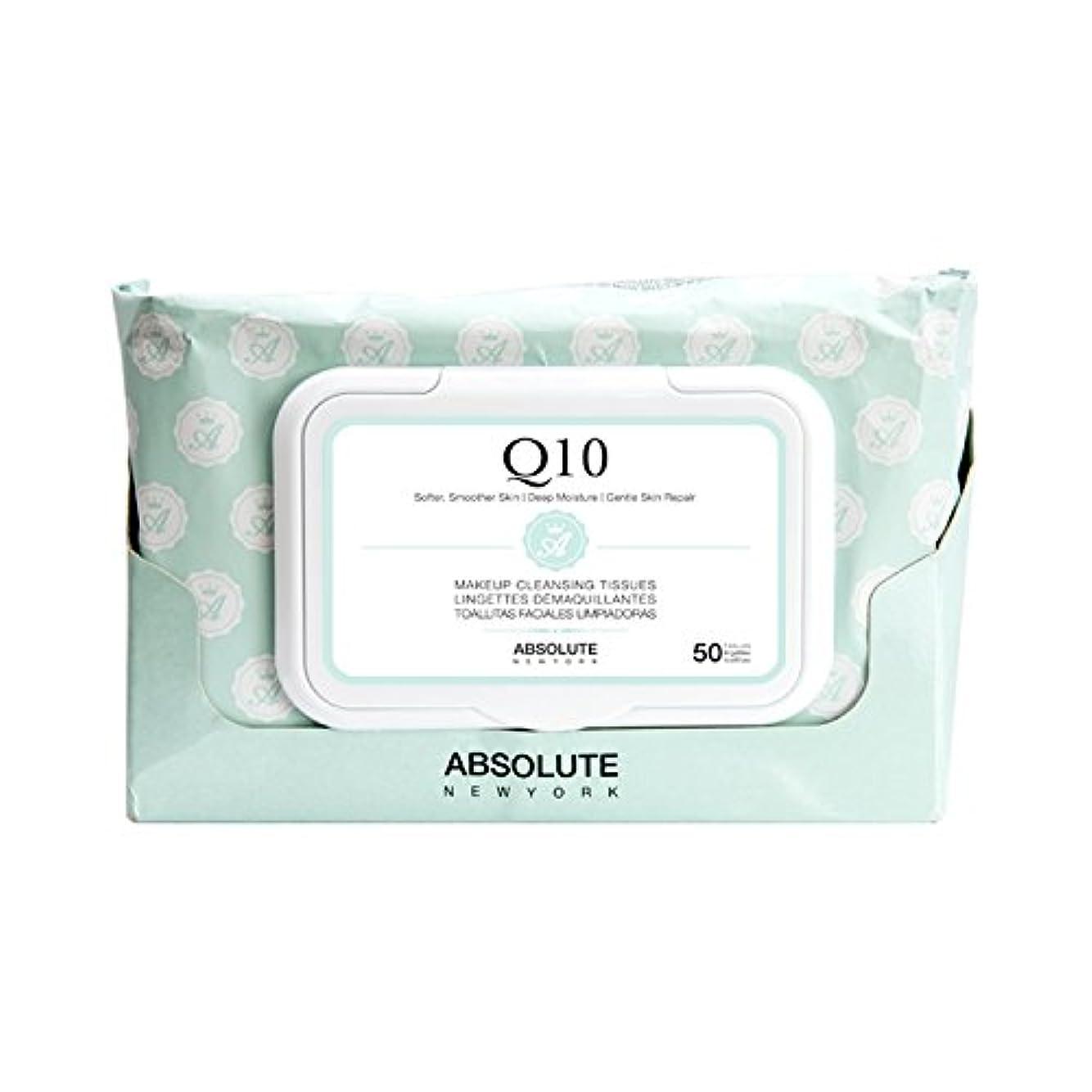 飛行場発見する意味のあるABSOLUTE Makeup Cleansing Tissue 50CT - Q10 (並行輸入品)