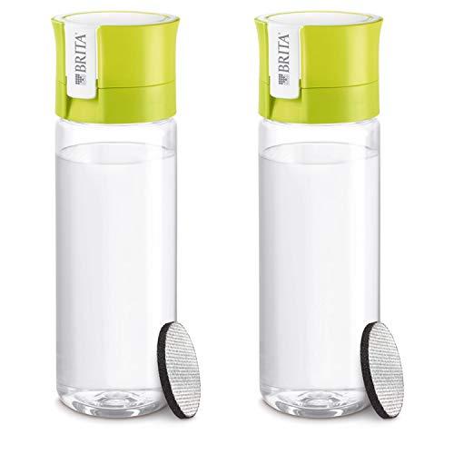 【Amazon.co.jp 限定】ブリタ 水筒 直飲み 600ml 携帯用 浄水器 ボトル 2本セット カートリッジ各 1個付き フィル&ゴー ライム 【日本仕様・日本正規品】