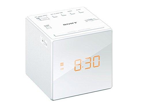 ソニー SONY クロックラジオ ICF-C1 : FM/AM/ワイドFM対応 おやすみタイマー ホワイト ICF-C1 W