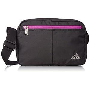 [アディダス] adidas ショルダーバッグ 4L 26821 11 (ブラック×ビビッドピンク)