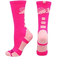 MadSportsStuff Cheer Breast Cancer Awareness Socks
