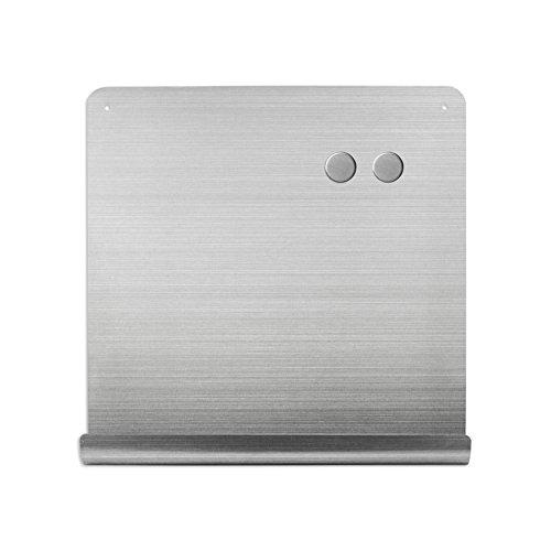 壁掛け ホワイトボード マグネットボード ステンレス製 おしゃれな J ボード ポケット付き 38cm×38cm