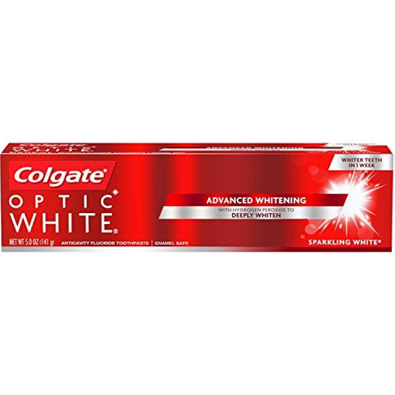 丁寧中間眼Colgate Optic White Sparkling Mint Toothpaste, 5 oz by COLGATE-PALMOLIVE