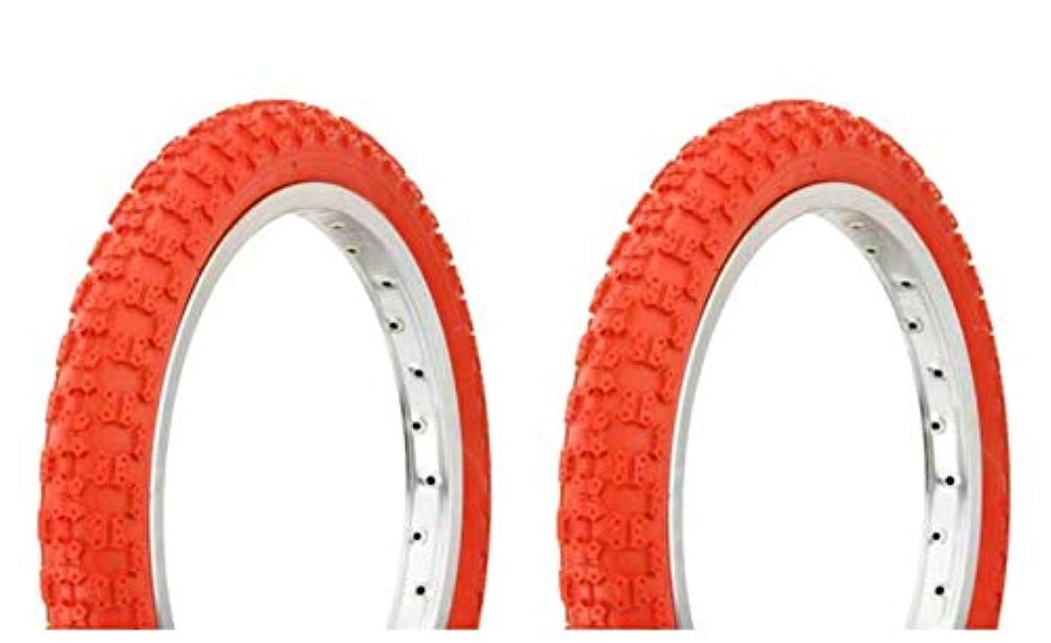 品はぁグラフィックLowrider タイヤセット 2タイヤ 2タイヤ デュロ 16インチ x 2.125インチ レッド/レッド サイドウォール HF-143G 自転車タイヤ 自転車タイヤ キッズバイクタイヤ 自転車タイヤ BMXバイクタイヤ
