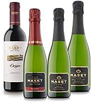 珍しいハーフボトルセット! シャンパン製法スパークリング3本&しっかりスペイン赤ワイン1本セット(スパークリング375mlx3本、赤375mlx1本) [スペイン/Amazon.co.jp限定/winery di