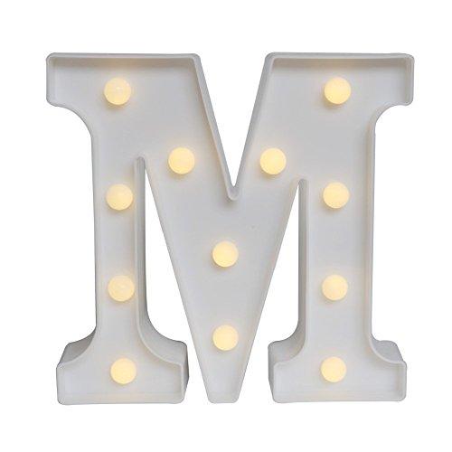 LED イルミネーション イニシャルライト アルファベットライト ホームイベント インテリア ギフト (M)