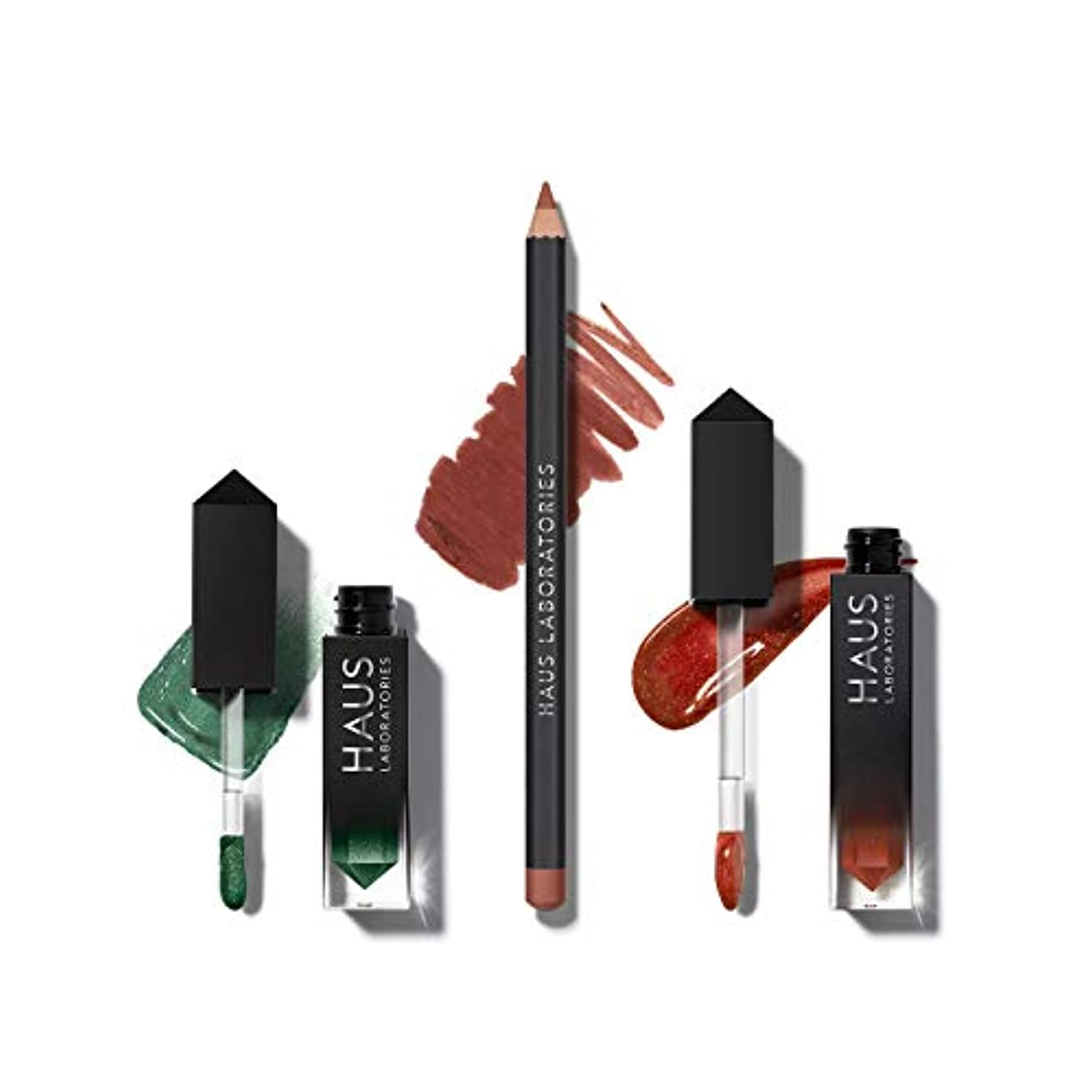 考古学メトリックジョットディボンドンHAUS LABORATORIES HAUS of Collections 3点セット All-Over Color, Lip Gloss, Lip Liner (HAUS of Dynasty )