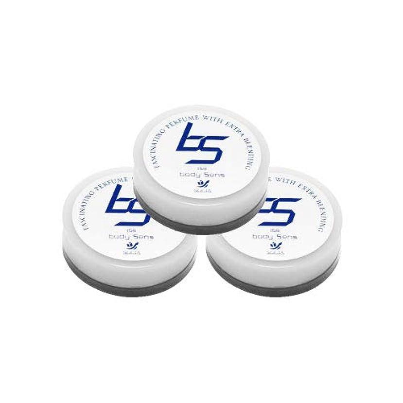 バージン統計換気するソシア (SOCIA) ボディセンス 3個セット 男性用 フェロモン 香水 (微香性 ムスク系の香り) メンズ用 練り香水 (4g 約1ヶ月分×3個)