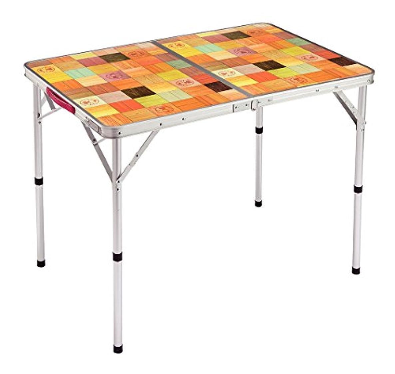 くぼみ異形天井コールマン(Coleman) テーブル ナチュラルモザイクリビングテーブル 90プラス