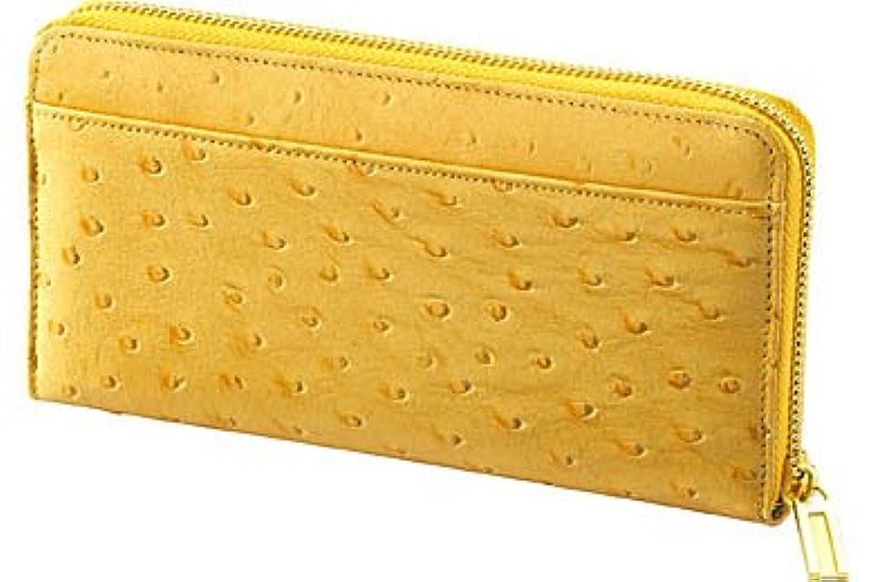 メカニック逆にユーモアアッシュエル オーストリッチ風長財布 Y S-HLE35052YE