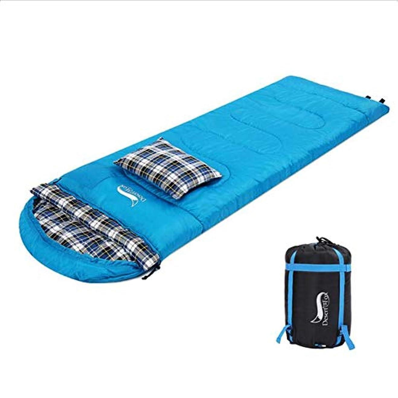 ブレイズ触手ミキサーLGFV-バックパックフェスティバルハイキングのための枕と3シーズンの暖かく涼しい天気のコットンフランネル寝袋