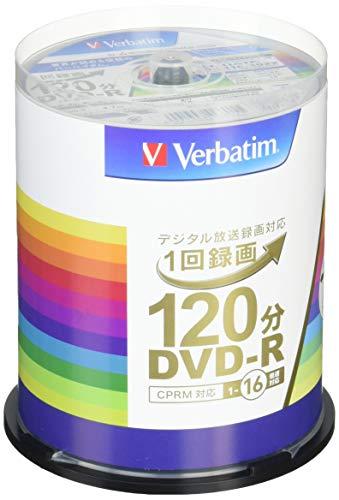 『三菱ケミカルメディア Verbatim 1回録画用DVD-R(CPRM) VHR12JP100V4 (片面1層/1-16倍速/100枚)』のトップ画像
