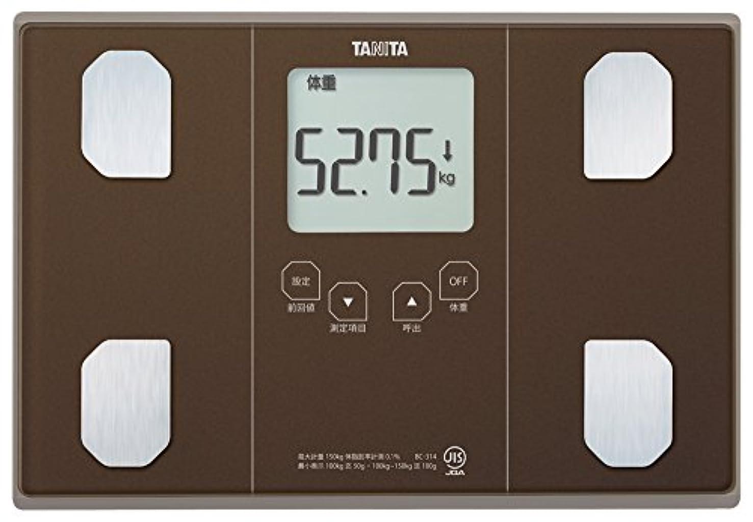 社交的また例示するタニタ 体重 体組成計 50g ブラウン BC-314 BR 自動認識機能付き/立掛け収納OK