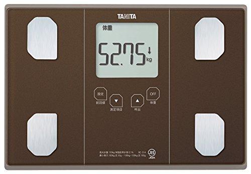 タニタ 体重・体組成計 インナースキャン50 メタリックブラウン BC-314-BR