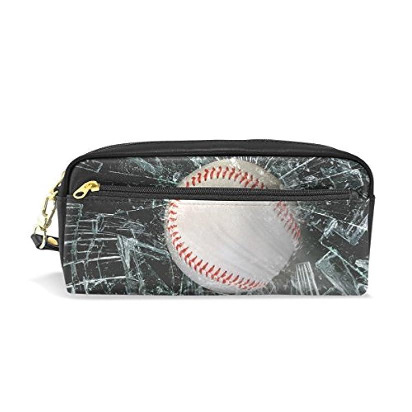 価格痛みインスタンスAOMOKI ペンケース 化粧ポーチ 小物入り 多機能バッグ レディース 野球 ガラス ブラック