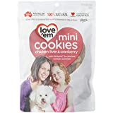 love'em Mini Cookies Chicken & Cranberry 300g, 1 Pack