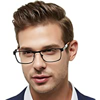 Eyewear Frame Men-OCCI Chiari-Metal Optical Eyeglasses with Clear Lenses (Dull Gold 54)