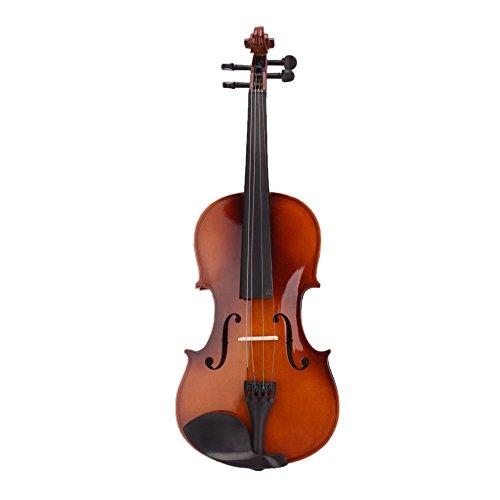 バイオリン,SODIAL(R) 4/4フルサイズ ナチュラルアコースティックバイオリンフィドル ケースボウロジン付き