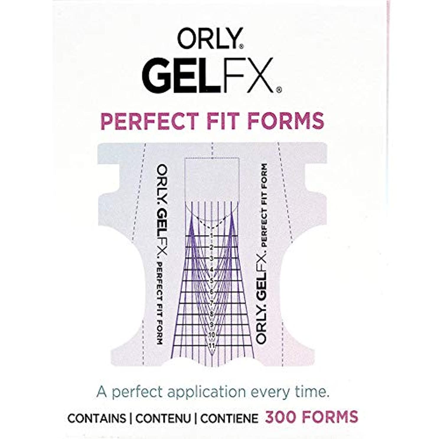 立方体ラップ癌Orly Gel FX - Perfect Fit Forms - 300 count