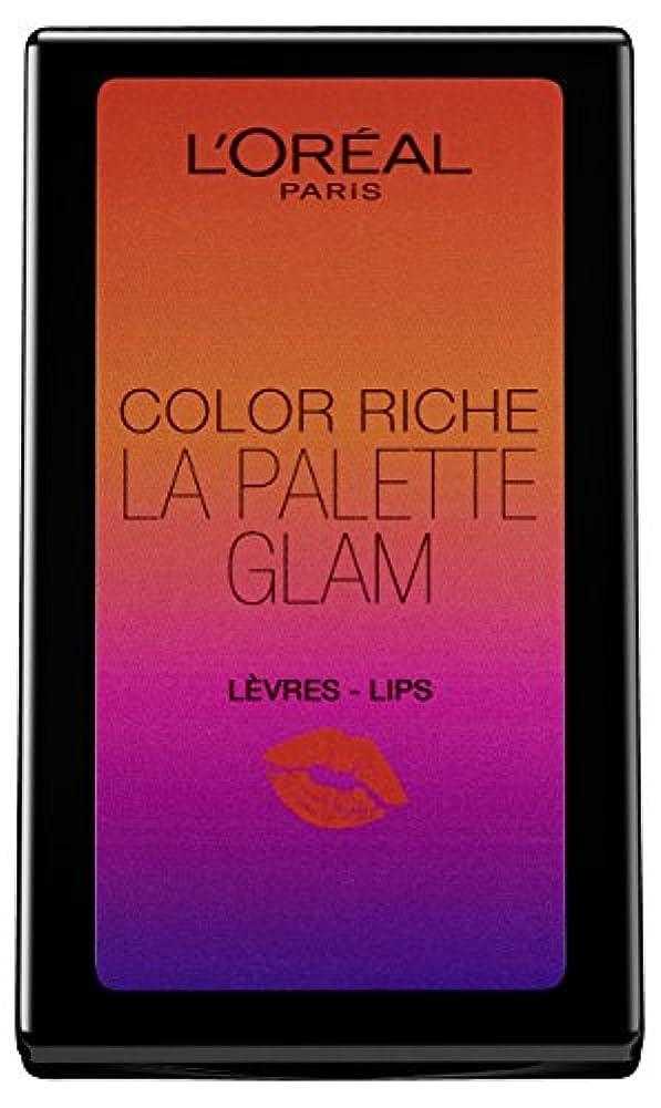 マーチャンダイザー比類のないバースL'Oréal Paris Color Riche La Palette Glam Lips, 1er Pack (1 x 7 g)