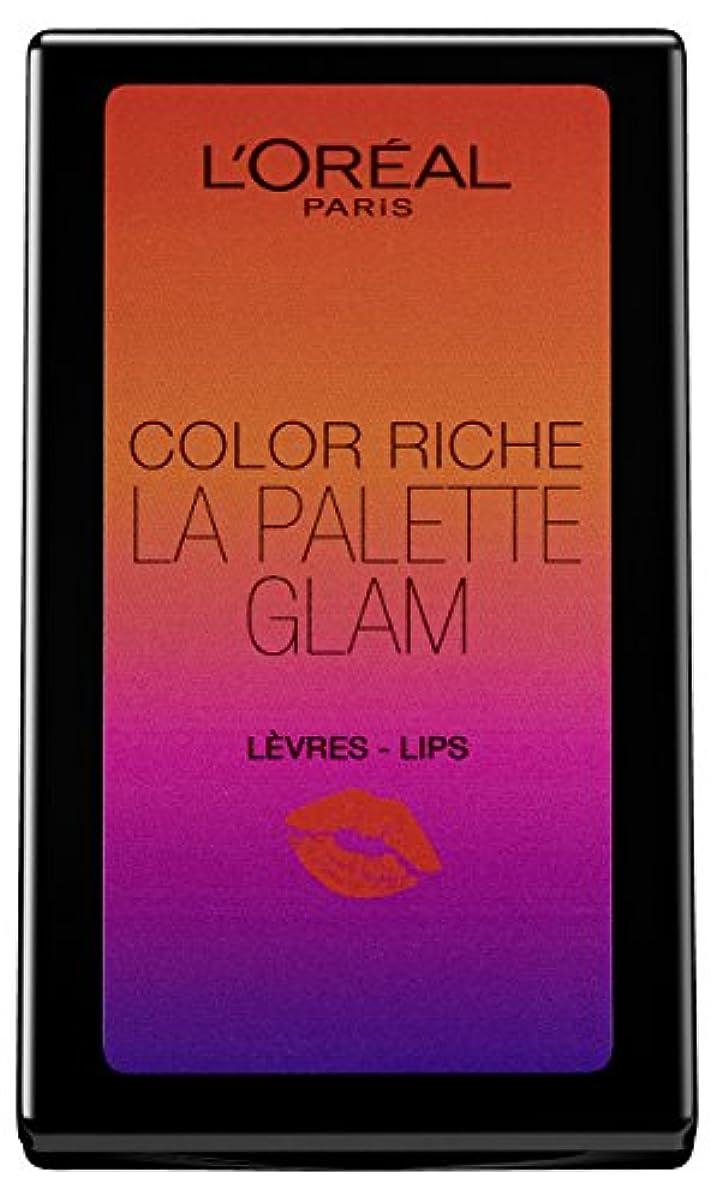 たまにぼかしカストディアンL'Oréal Paris Color Riche La Palette Glam Lips, 1er Pack (1 x 7 g)