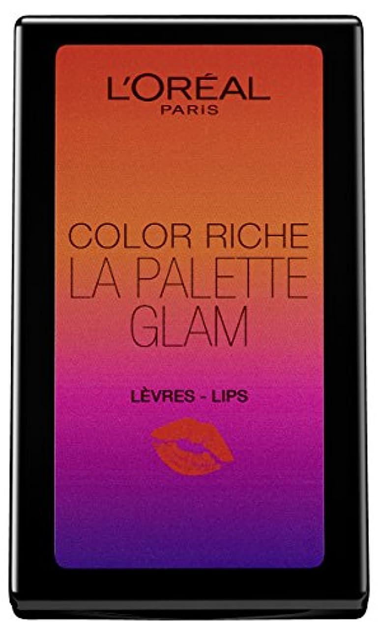 頑張る衛星避難するL'Oréal Paris Color Riche La Palette Glam Lips, 1er Pack (1 x 7 g)