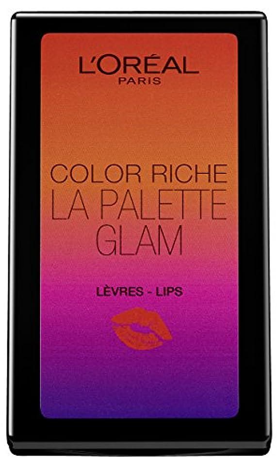 週間覗く手荷物L'Oréal Paris Color Riche La Palette Glam Lips, 1er Pack (1 x 7 g)