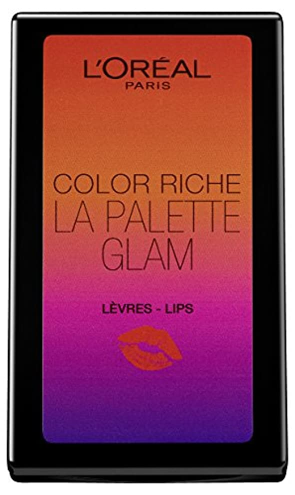 楽しむ翻訳品L'Oréal Paris Color Riche La Palette Glam Lips, 1er Pack (1 x 7 g)