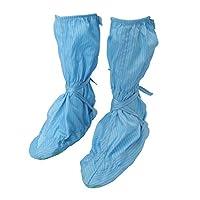 B Blesiya 作業靴 クリーンルームシューズ 帯電防止 通気性&快適&軽量 泥除け  防滑 1ペア 全4色 - 青